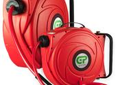 9 Mtr Compact Retractable Air Hose Reel - Red Case & Hose